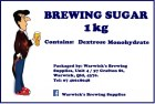 Warwick's Brewing Supplies 1.0kg Brewing Sugar